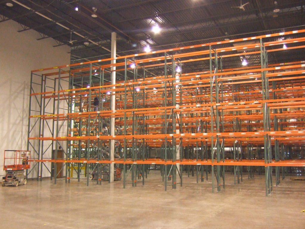 used-pallet-rack-installation