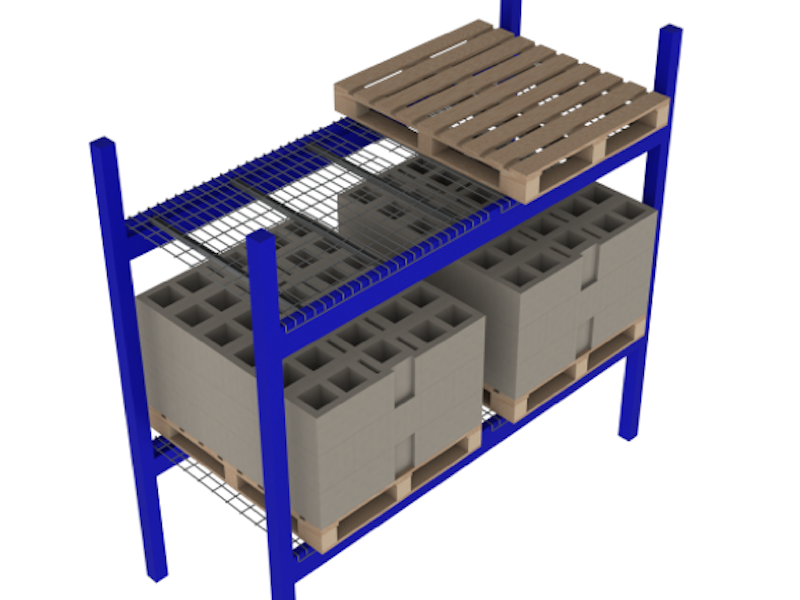 Pallet Racks in Ohio Wire Mesh Decks