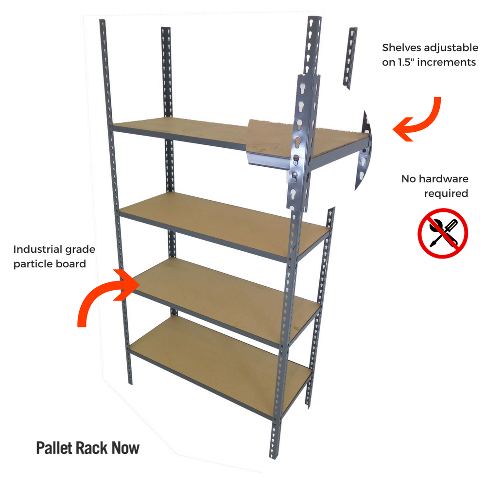industrial metal shelving unit - Industrial Metal Shelving